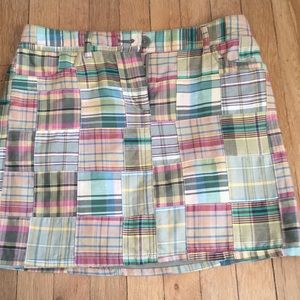 Anne Taylor Loft madras plaid skirt